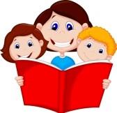 168x162 Family Reading Clipart