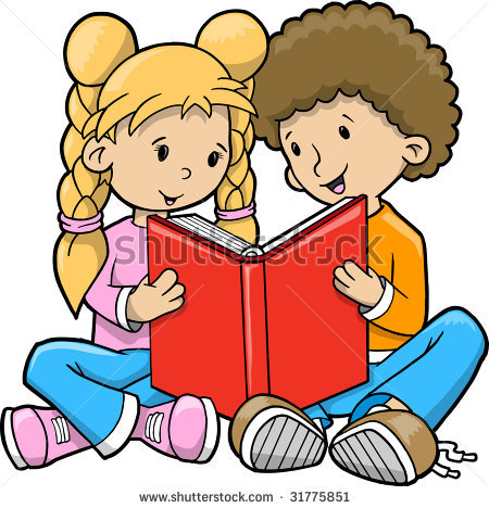 450x468 Clipart Kids Reading Together