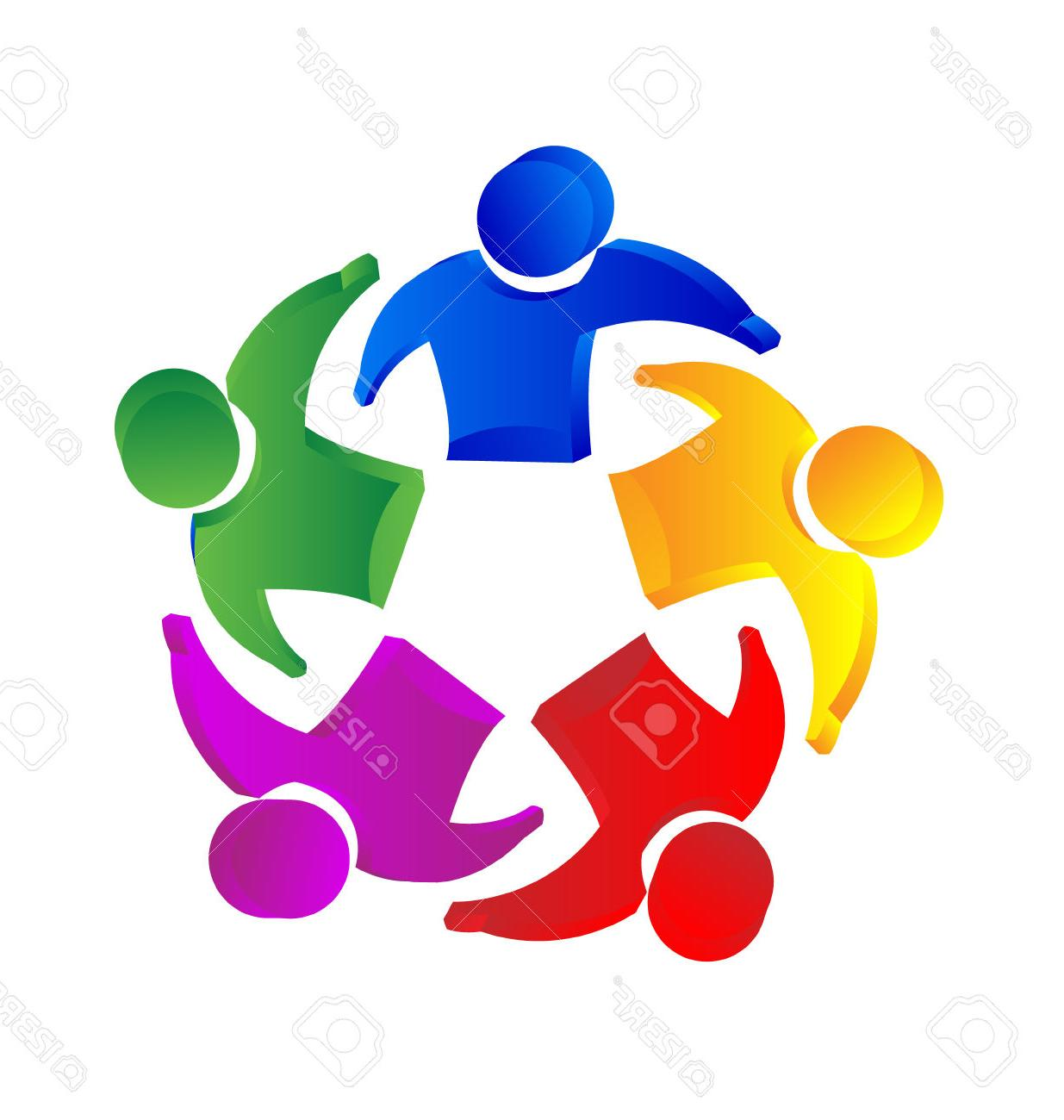 1235x1300 Best 15 Teamwork People Unity Concept Icon Vector Stock Family
