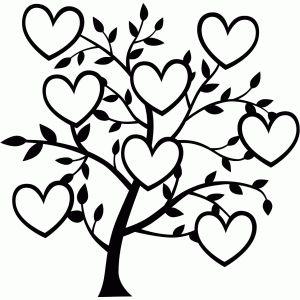 300x300 Silhouette Design Store 8 Heart Family Tree Clip Art