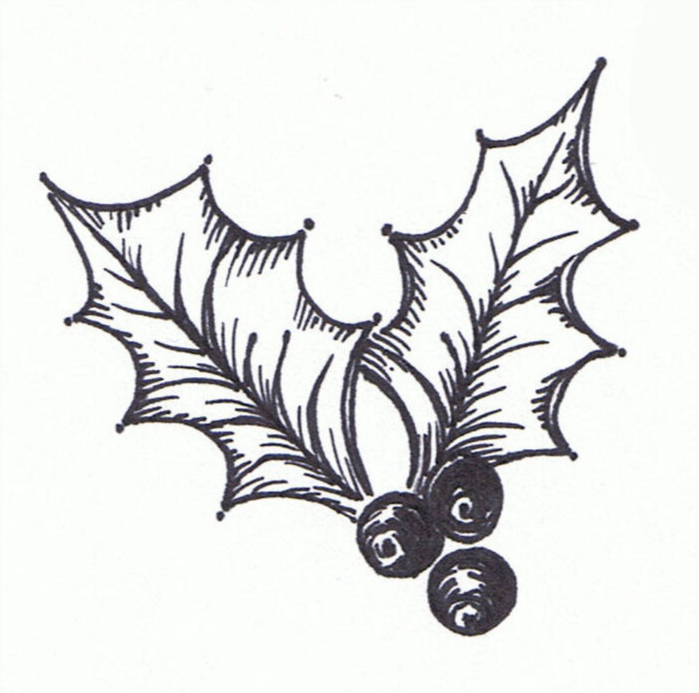 1000x992 Best Holly Clip Art