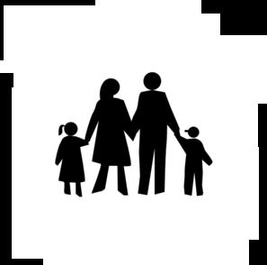 297x294 Black Clipart Family
