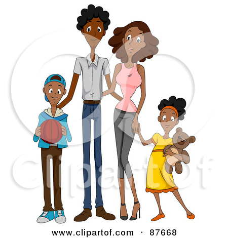 450x470 Free African American Family Clipart