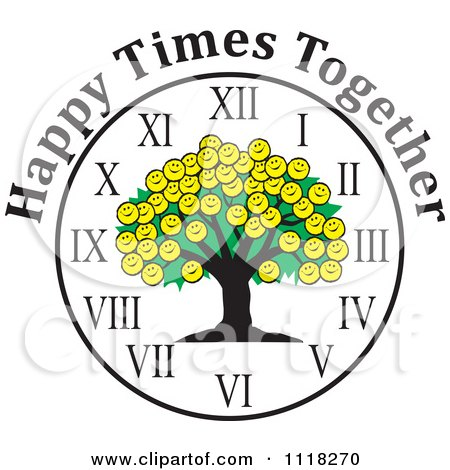 450x470 Clipart Of A Black And White Family Reunion Tree And Uplifted