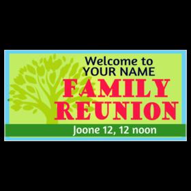 280x280 Custom Family Reunion Banners