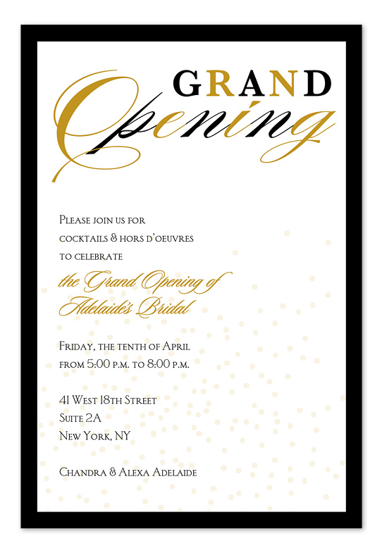 542x785 Grand Opening Program Template