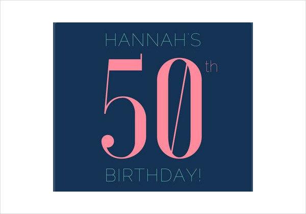 600x420 50th Birthday Invitation Templates