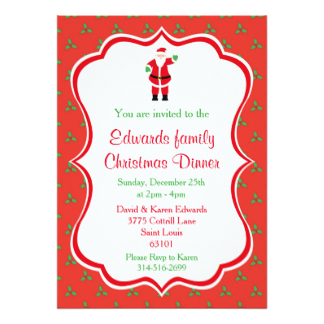 324x324 Family Christmas Party Invitations Amp Announcements Zazzle