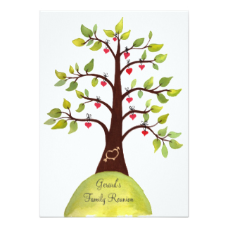 324x324 Family Tree Reunion Invitations Amp Announcements Zazzle
