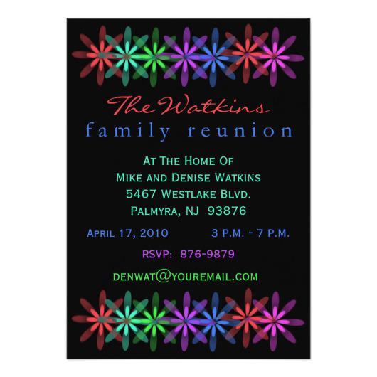 530x530 Fun Ticket Cut Family Reunion Invitation Invitations 4 U