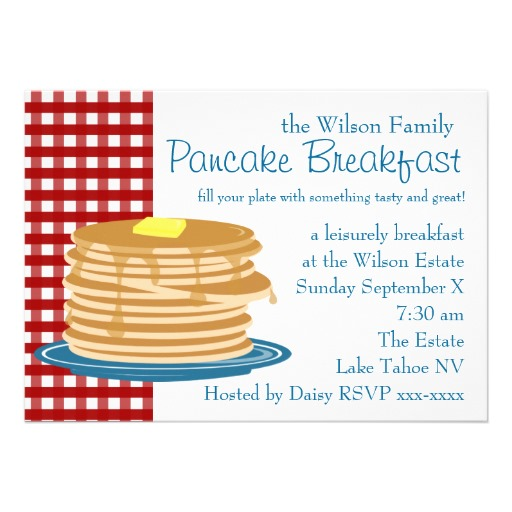 512x512 Pancake Breakfast Invitation Pancake Breakfast