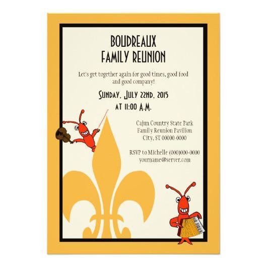530x530 Cajun Family Reunion Invitations 4 U