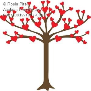 299x300 Heart Family Tree Clip Art