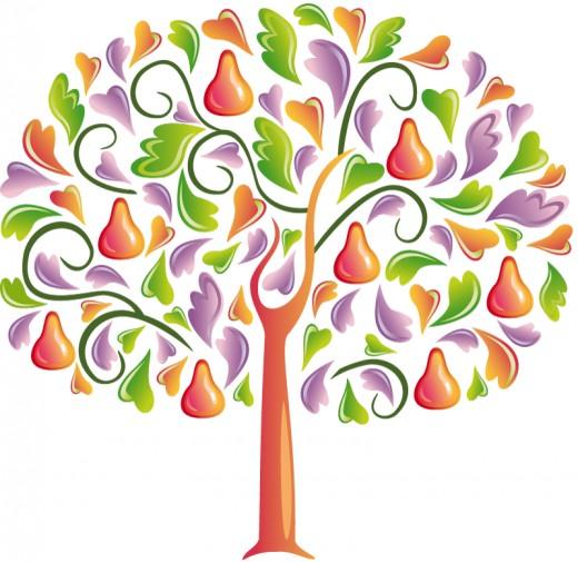 520x505 Tree Clip Art 175 Free Clip Art Trees Hubpages