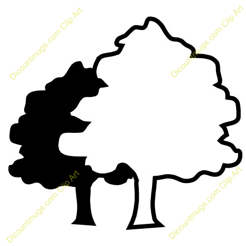 500x500 Two Trees Clip Art