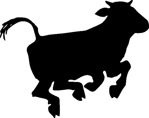 600x475 Jumping Cow Clip Art
