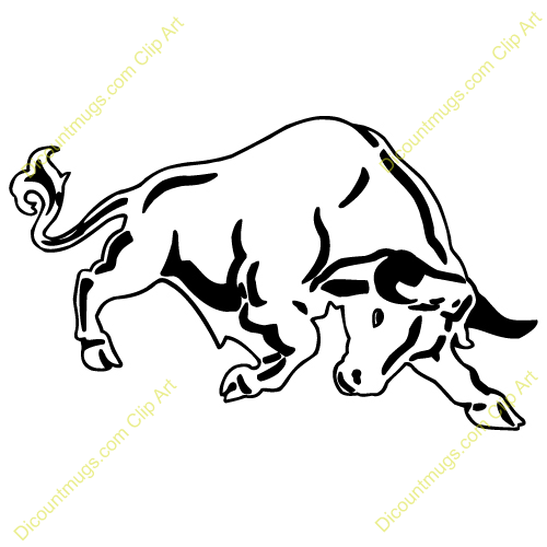 500x500 Red Bull Clipart Running Bull