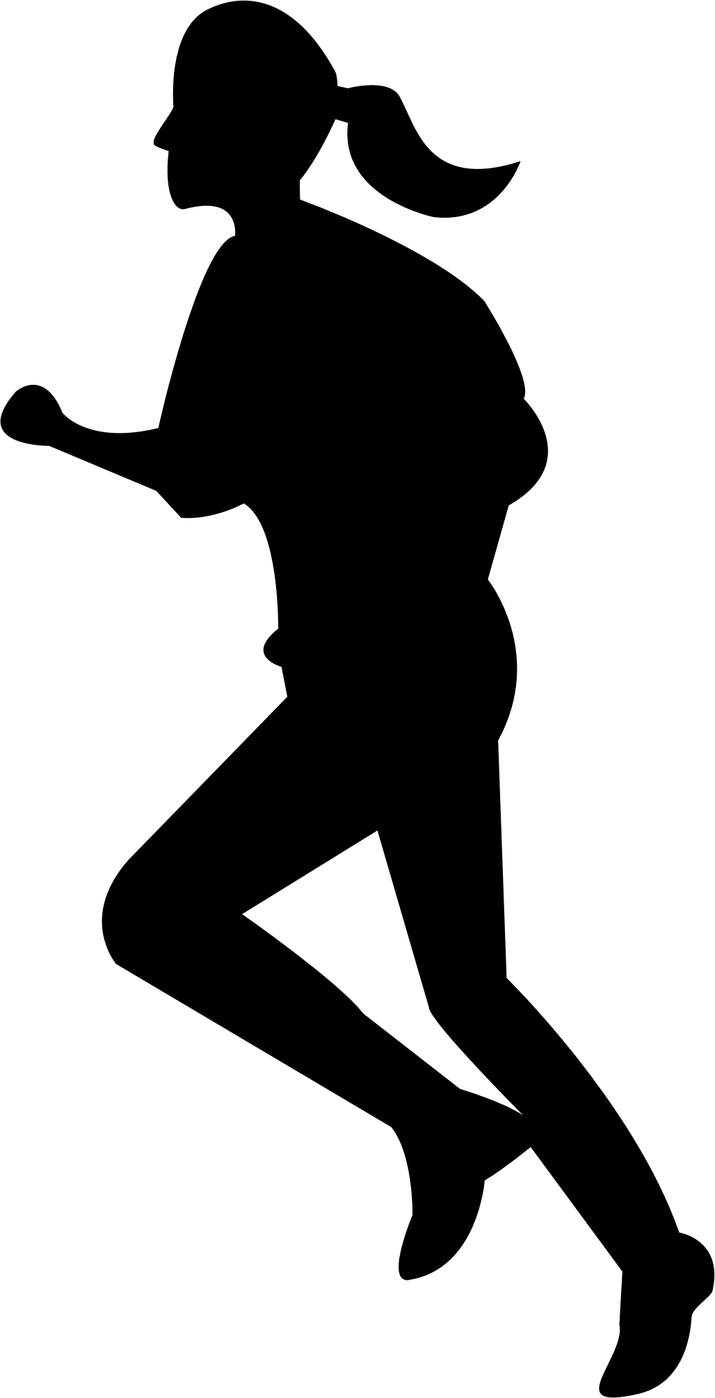 1028x2009 Running Clipart Transparent