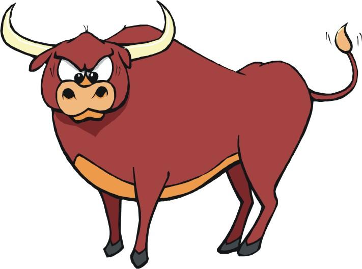 711x528 Bulls Clipart Running Bull
