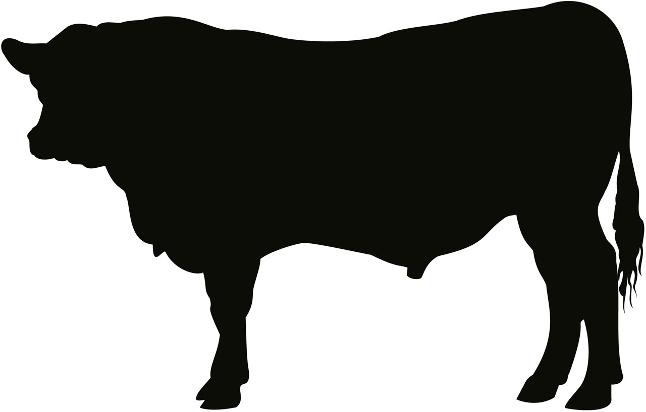 1280x818 Cow Silhouette Cattle Silhouette Clipart Kid 6