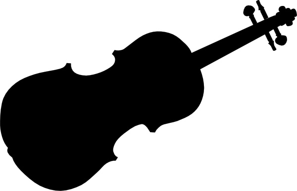 600x387 Violin Silhouette Clip Art Free Vector In Open Office Drawing Svg