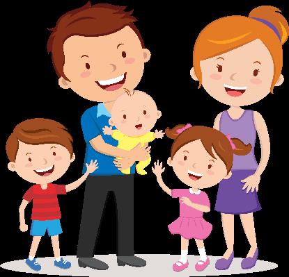 415x399 Clip Art Family