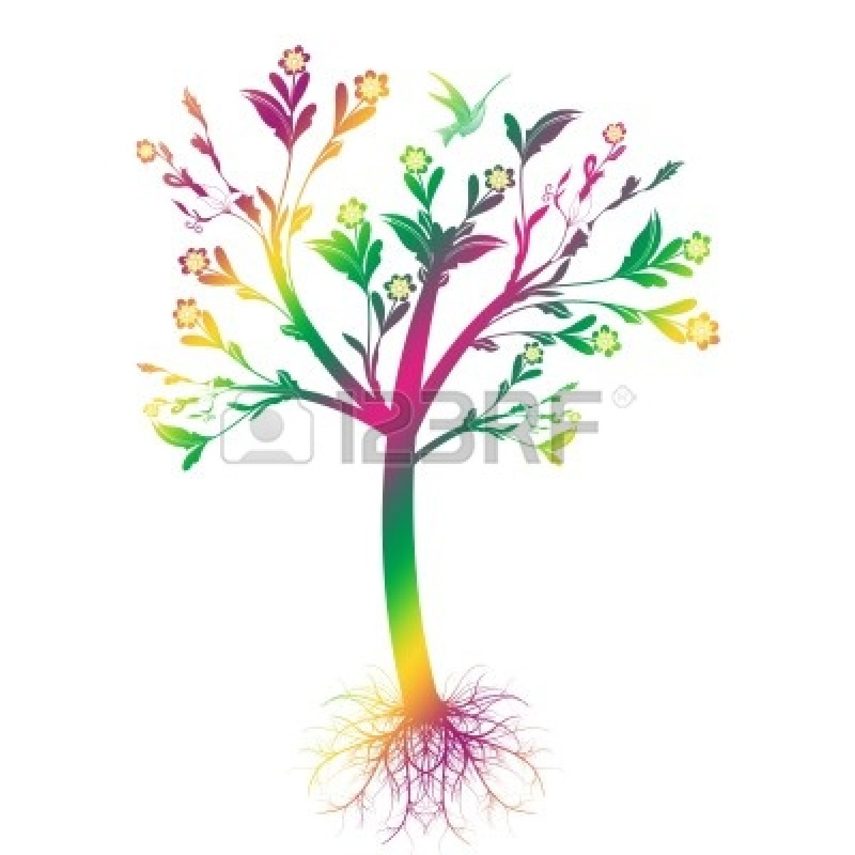1200x1200 Family Tree With Roots Clipart