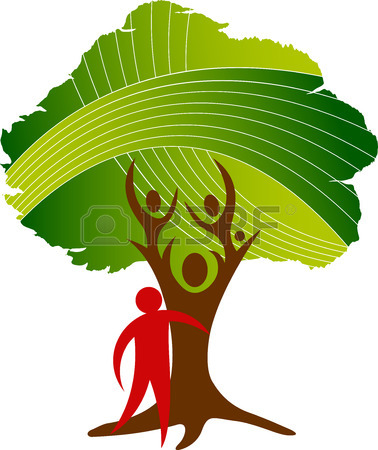 378x450 Illustration Art Of A Family Tree Icon With Isolated Background