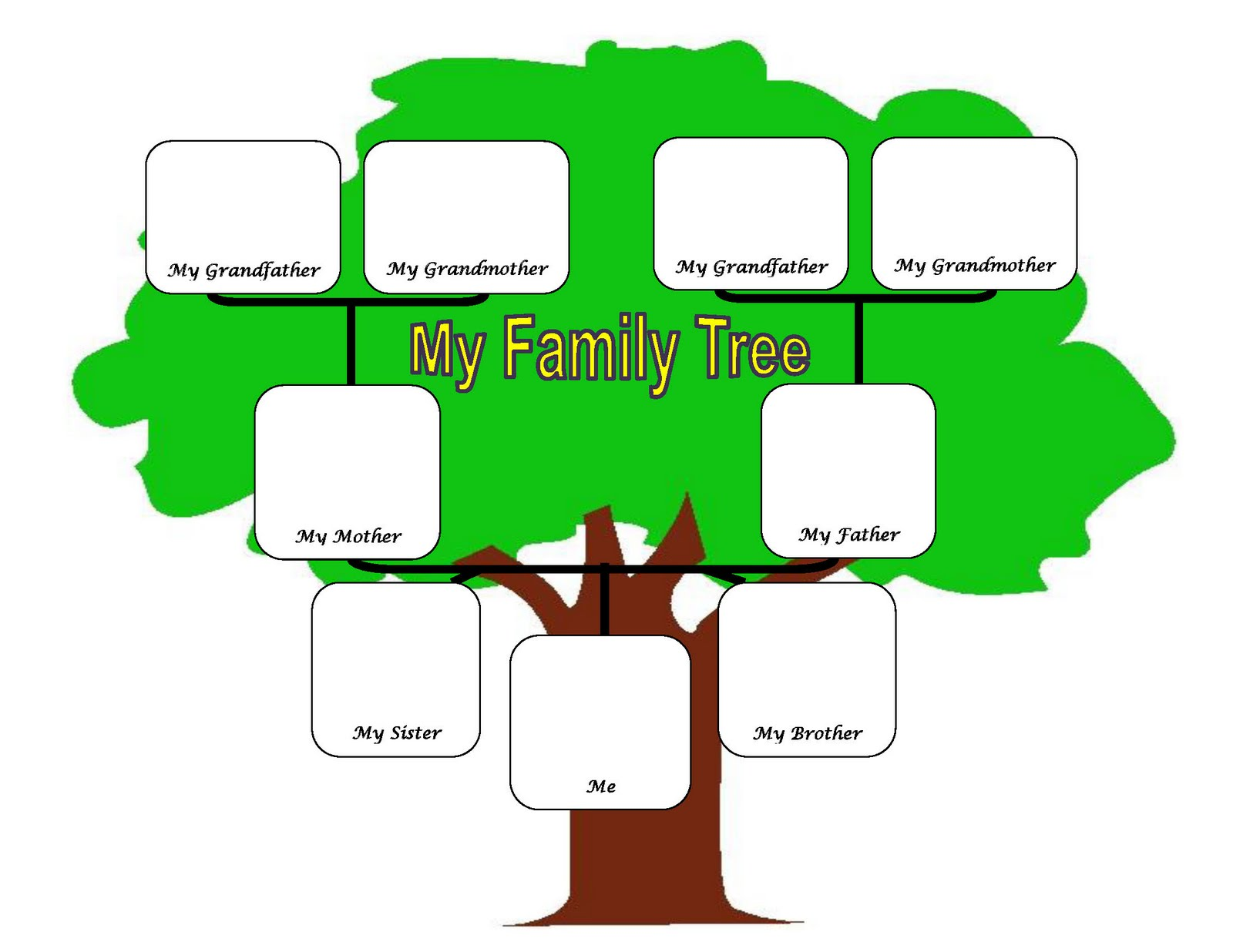 1600x1236 My Family Tree Clipart