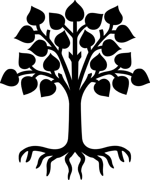 498x598 Family Tree With Roots Clipart