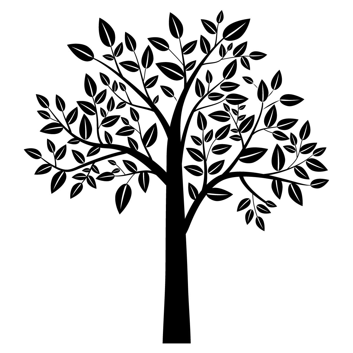 1200x1200 Impeccable Tree Clip Art S To Pin On Similiar Black Then Tree Art