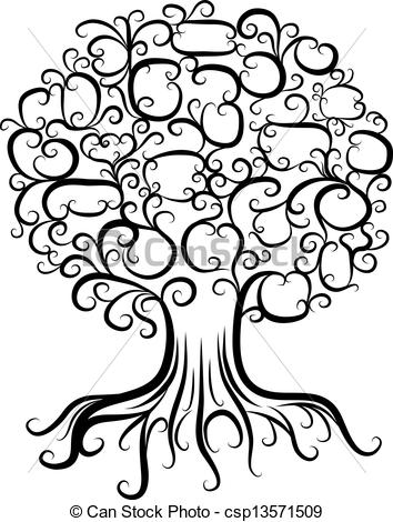 354x470 Tree With Roots Clipart Black And White