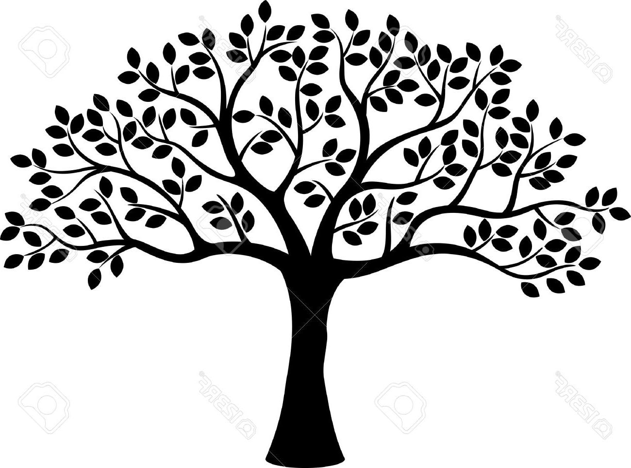 1300x965 Best Hd Tree Silhouette Stock Vector Life Family Image