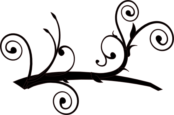 600x397 Dark Whimsy Branch Clip Art