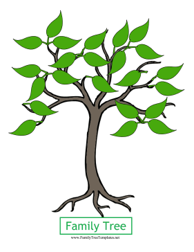 281x364 Family Tree Template