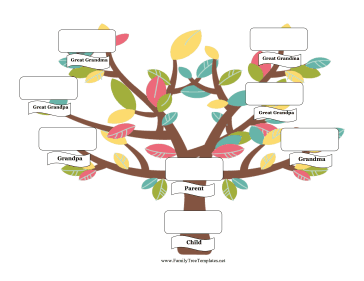 364x281 Parent Family Tree Template