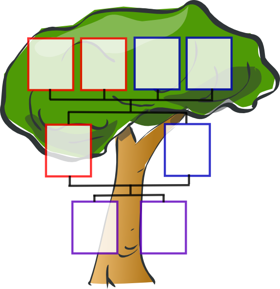 576x595 Totetude Family Tree Two Kids Clip Art