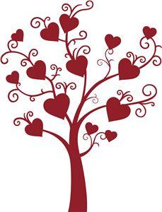 229x300 Heart Family Tree Clipart