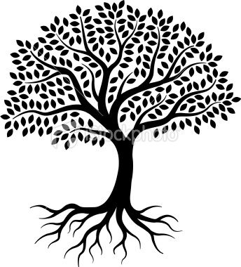 344x380 Family Reunion Tree With Roots Clipart Clipartsgram