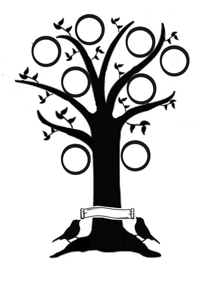 683x1024 Family Tree Silhouette
