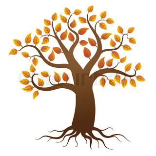 320x320 Whole Black Tree With Roots Isolated White Background Vector