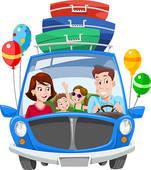 151x170 Family Vacation Clip Art