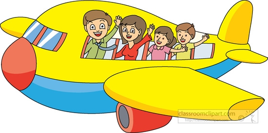 550x274 Vacation Airplane Clipart