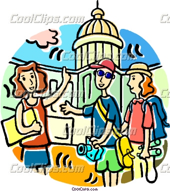340x383 Vacation Clipart Family Tourist