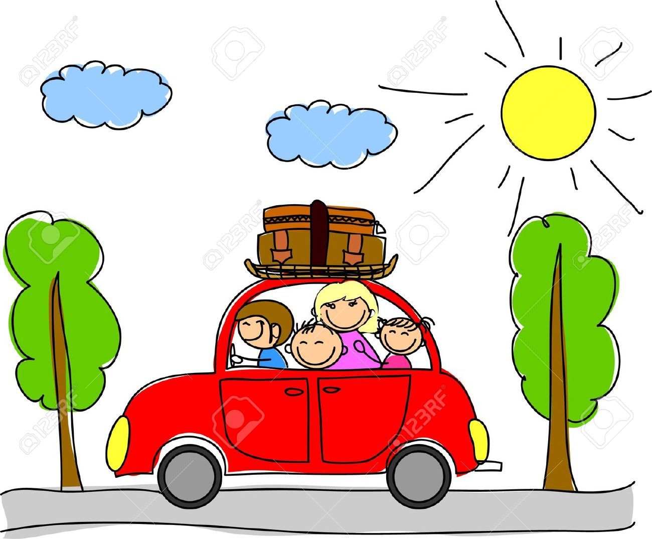 1300x1074 Vacation Clipart Happy Family
