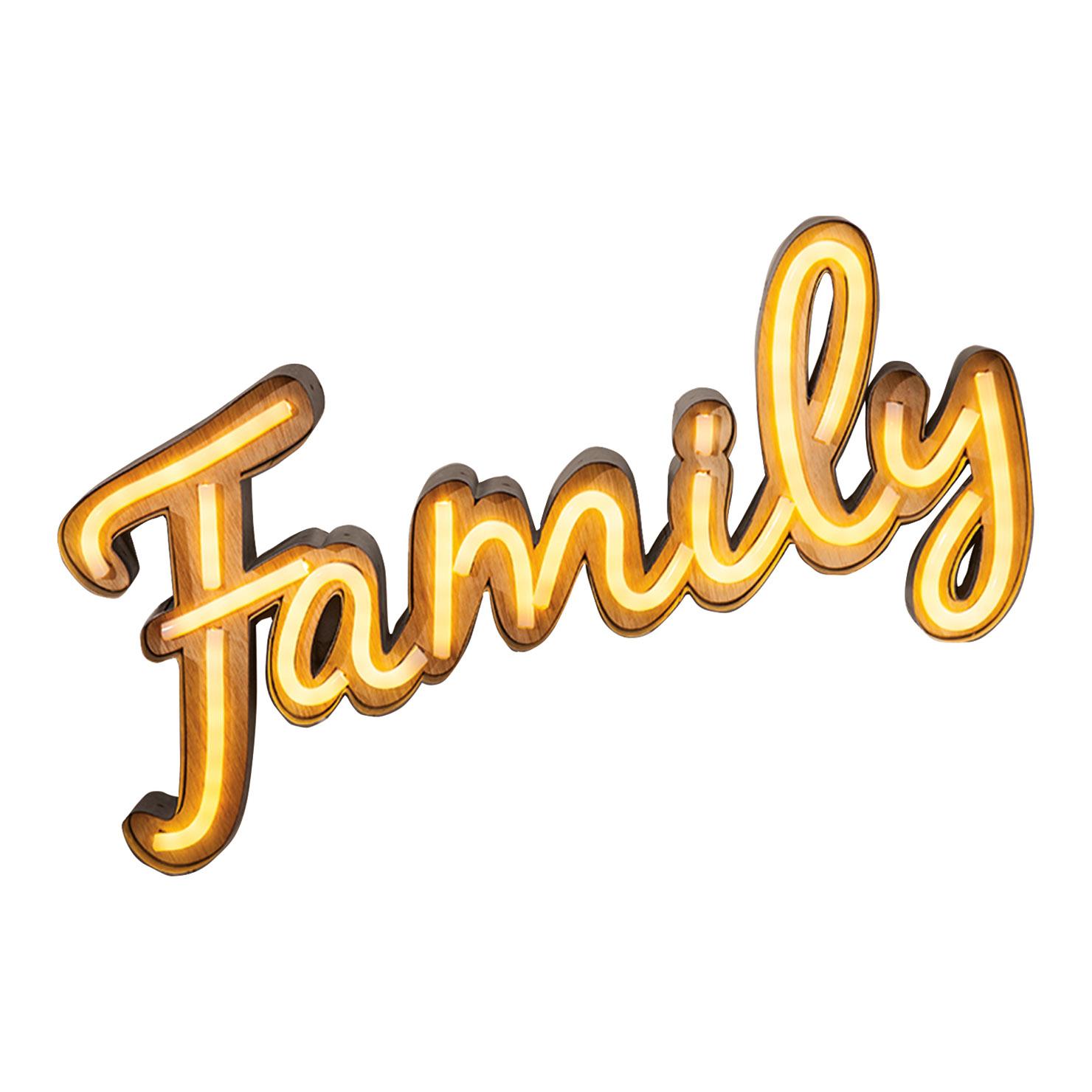 1480x1480 Family Word Light, White Achica