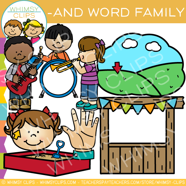 600x600 Word Family Clip Art , Images Amp Illustrations Whimsy Clips