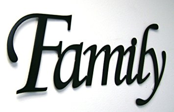 355x228 Family Word Sign Monotype Font Home Decor Metal Wall