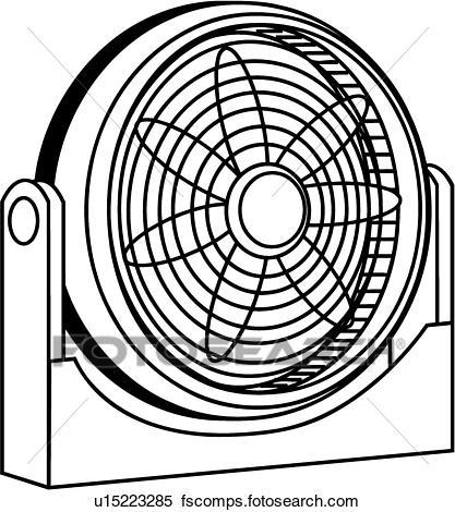 417x470 Clipart Of Fan U15223285