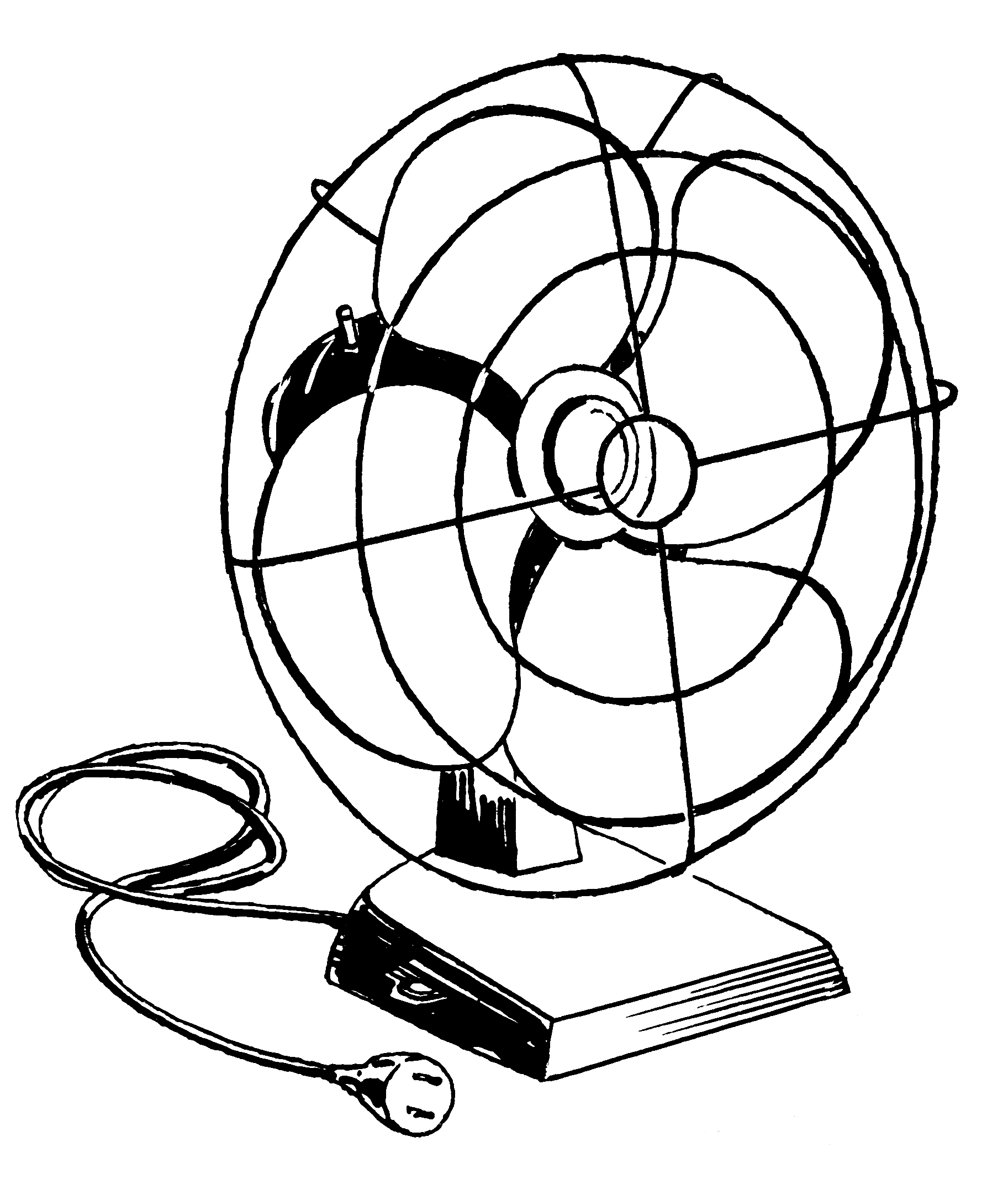 1825x2134 Electric Fan Clipart Black And White Letters Example